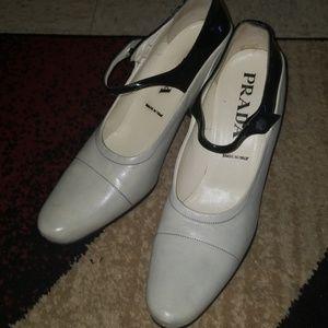 Prada 2 tone heels